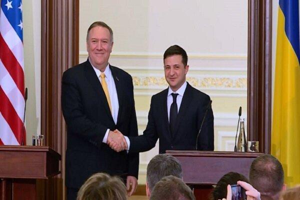 قول حمایت پمپئو به رئیس جمهوری اوکراین در برابر مخالفان